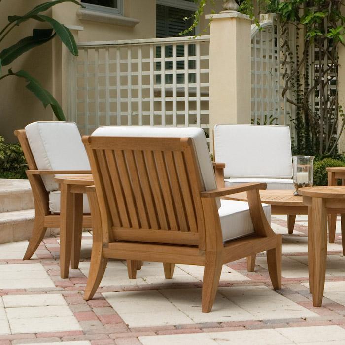 Laguna Teak Deep Seating Outdoor Lounge Chair - Westminster Teak ...