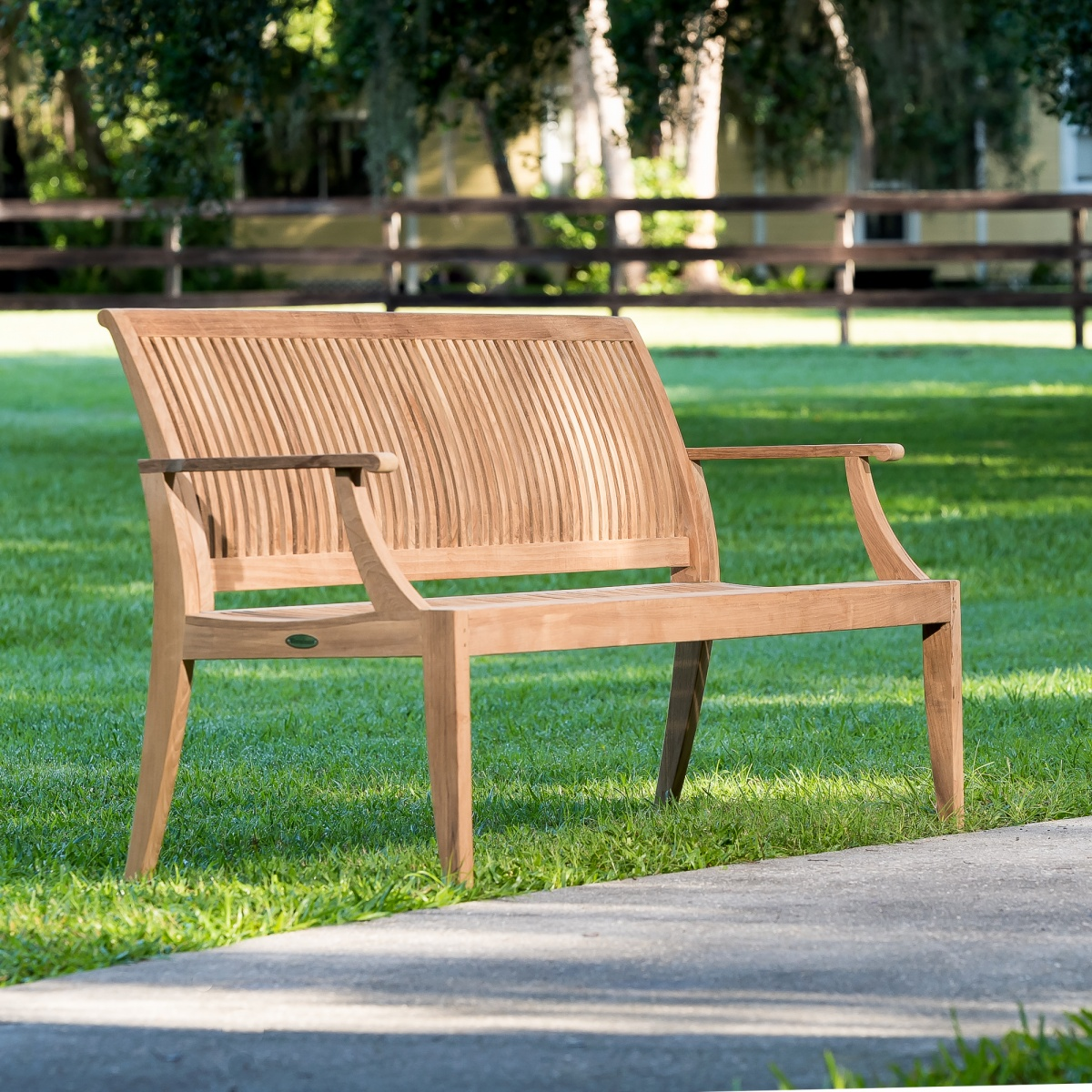 Laguna teak garden bench 6 ft westminster teak outdoor for Teak outdoor furniture