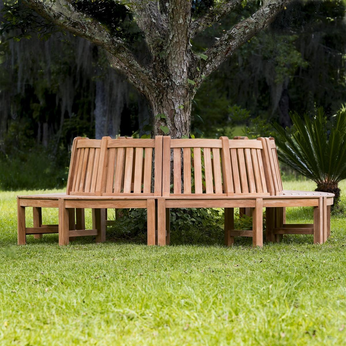 Westminster Teak Tree Trunk Bench Surrounds Tree Westminster Teak Outdoor Furniture