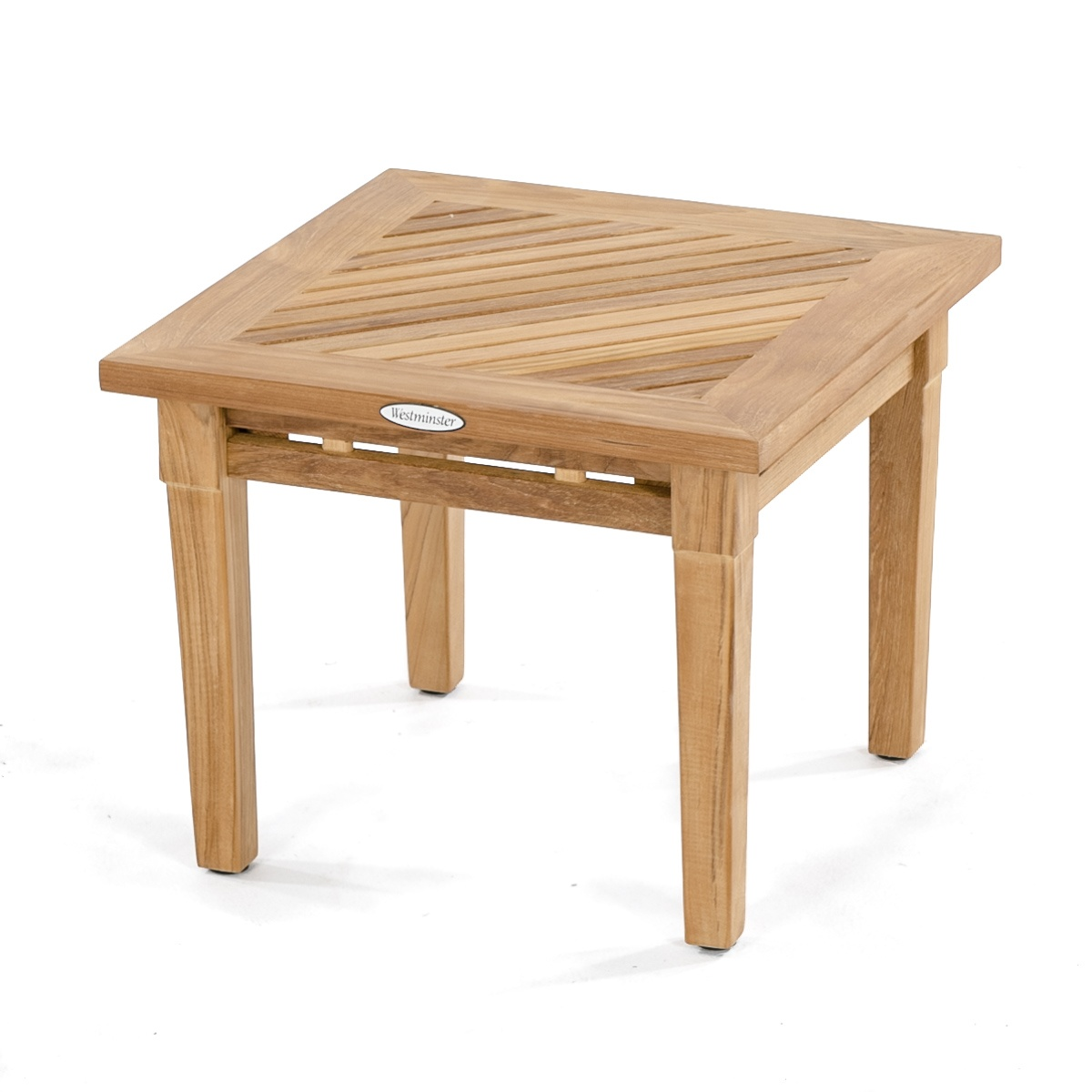 Westminster teak outdoor end table westminster teak for Outdoor teak side table