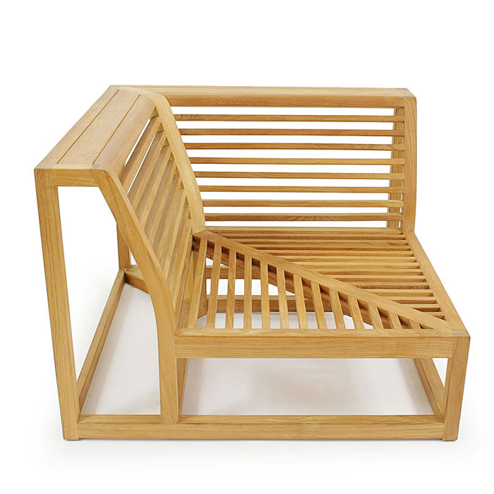 Maya teak sectional outdoor furniture set westminster for Quality furniture