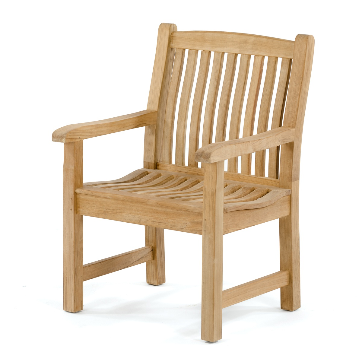 Veranda Traditional English Teak Outdoor Armchair ...