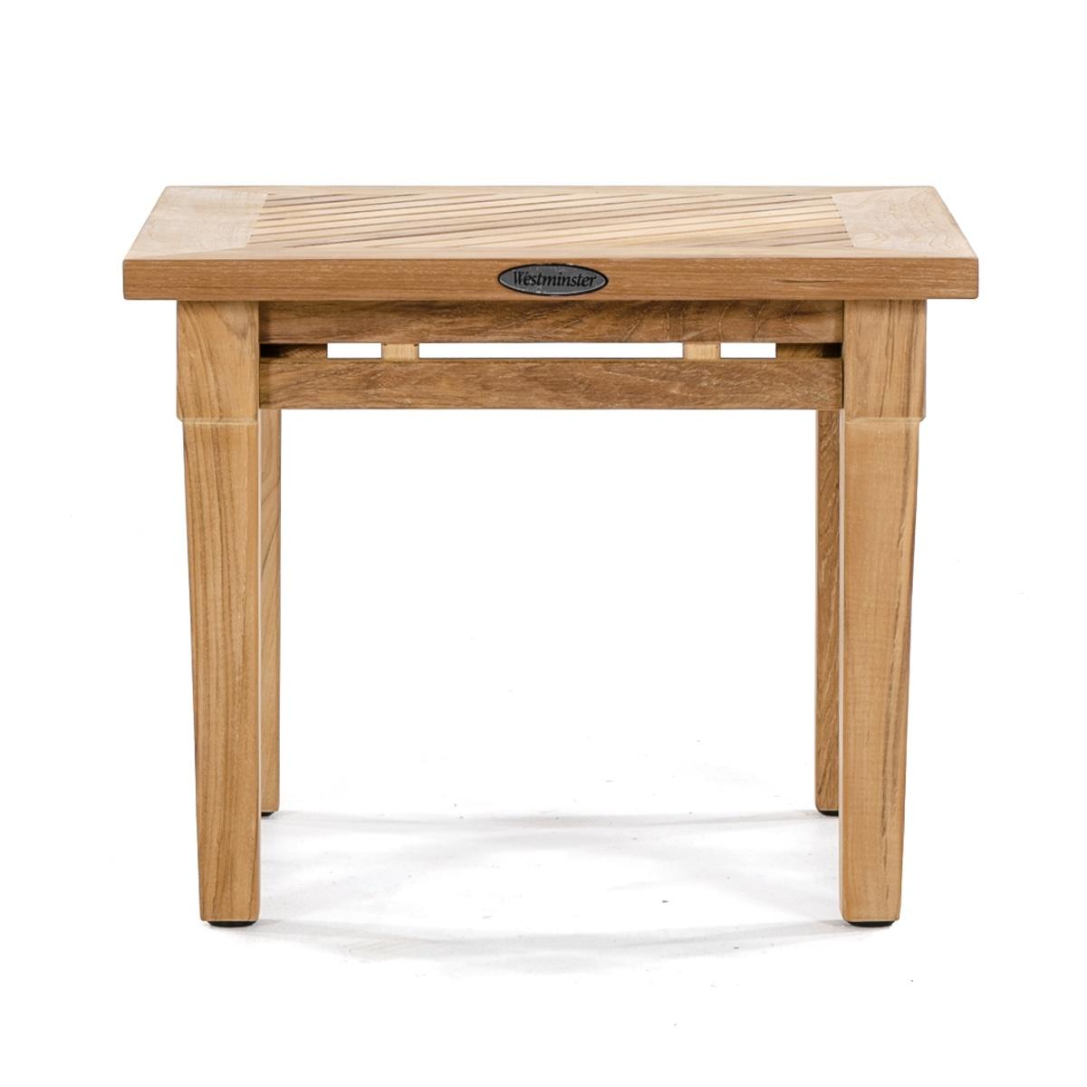 Teak Patio End Table Teak Outdoor End Table Arhaus