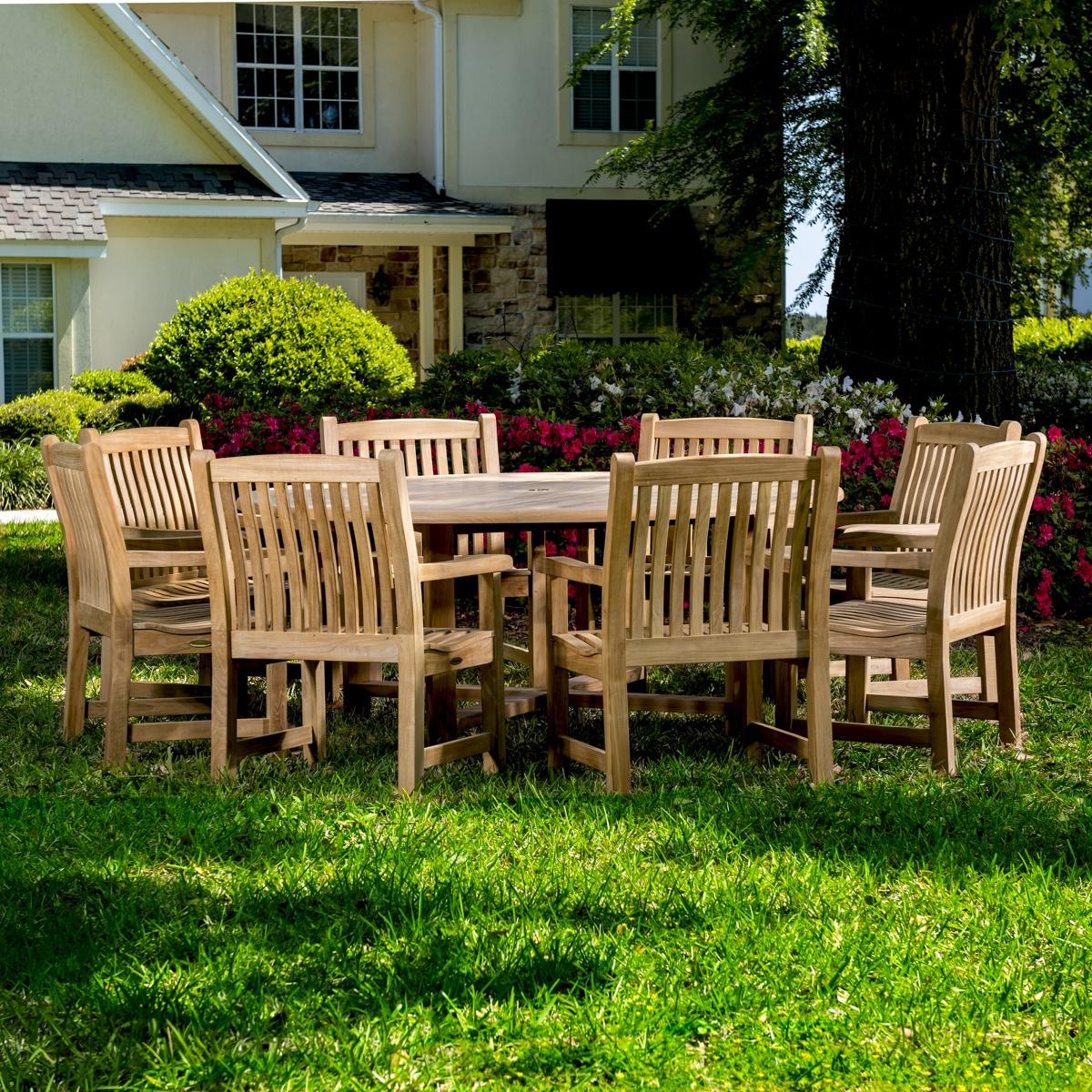 Round Teak Dining Table Set Westminster Teak Outdoor Furniture