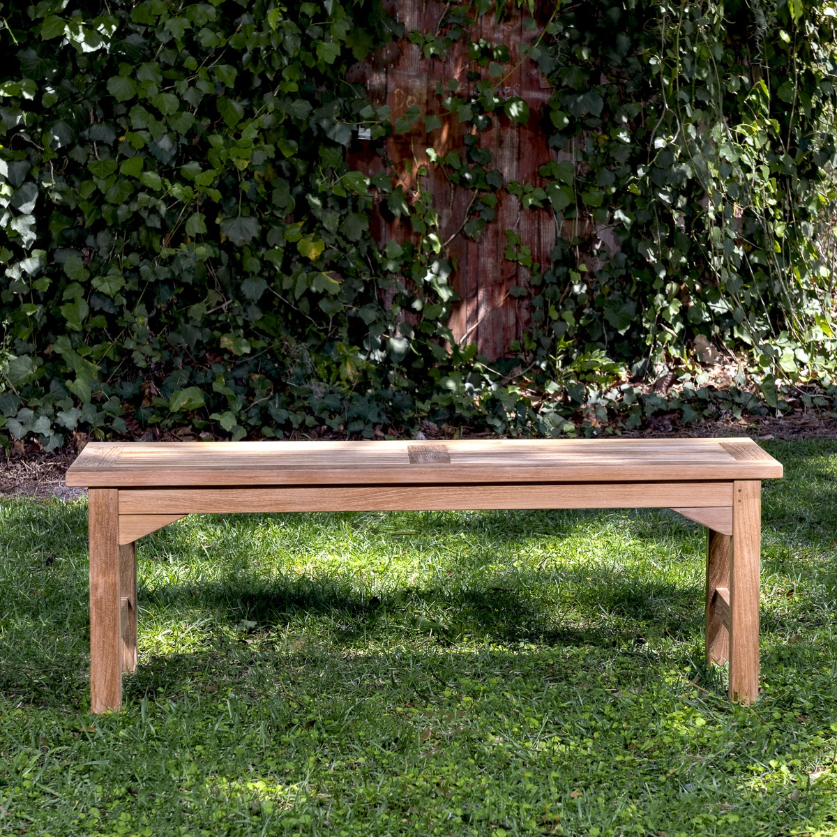 Waterproof Teak Backless Bench 4ft Westminster Teak Outdoor Furniture