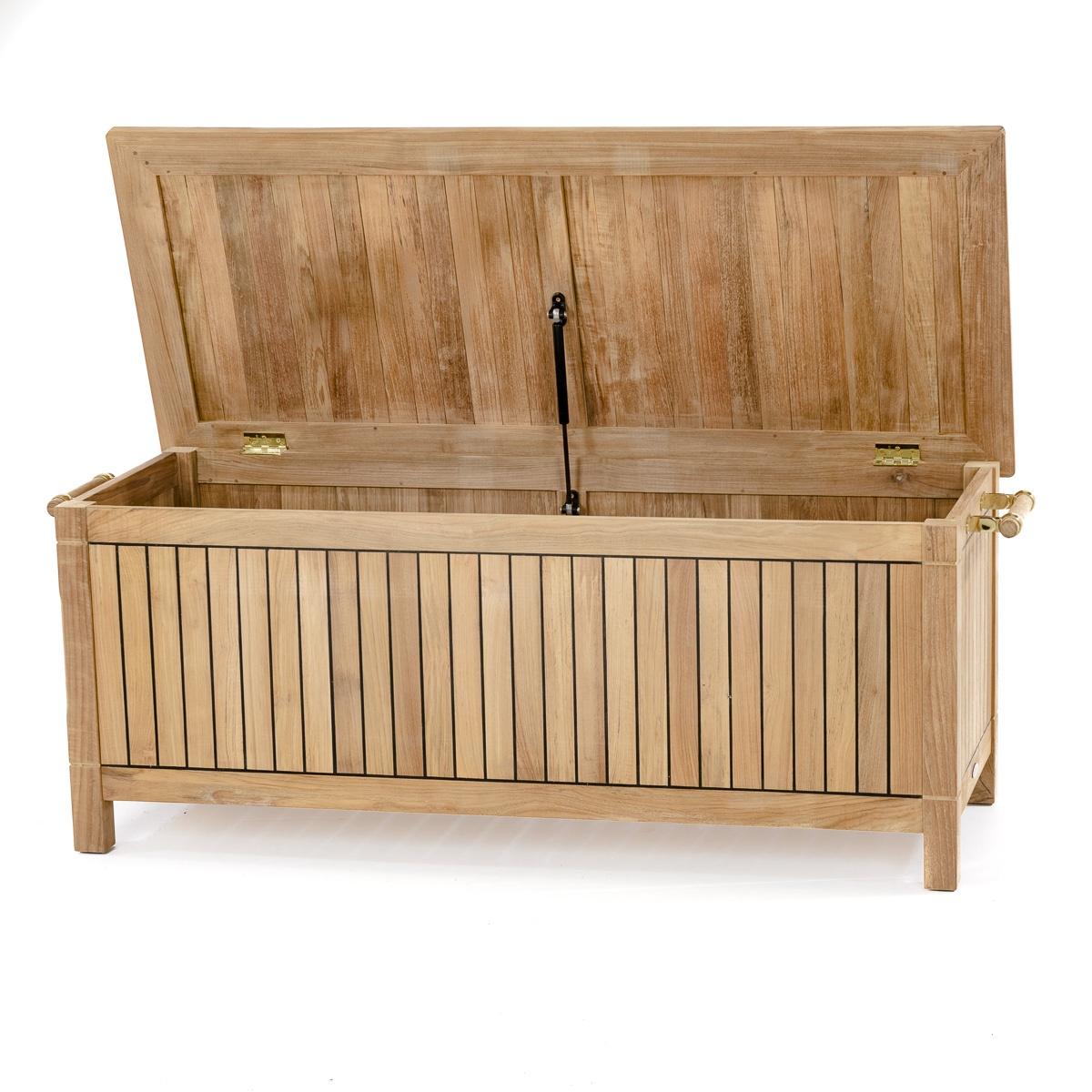 Somerset Teak Cushion Storage Dock Box And Chest