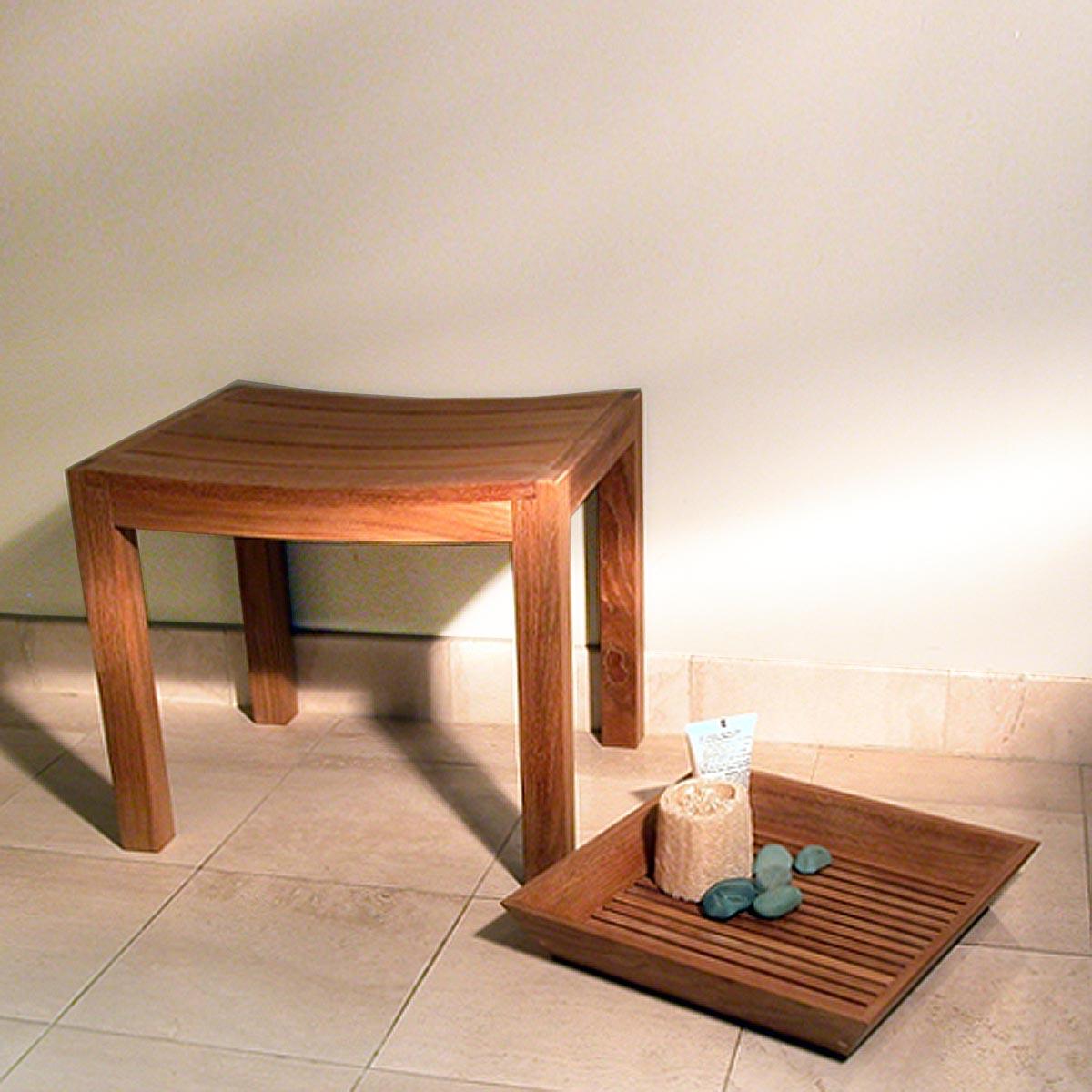 Pacifica Waterproof Teak Spa Curve Stool Westminster  : teak bath stools from www.westminsterteak.com size 1183 x 1168 jpeg 218kB