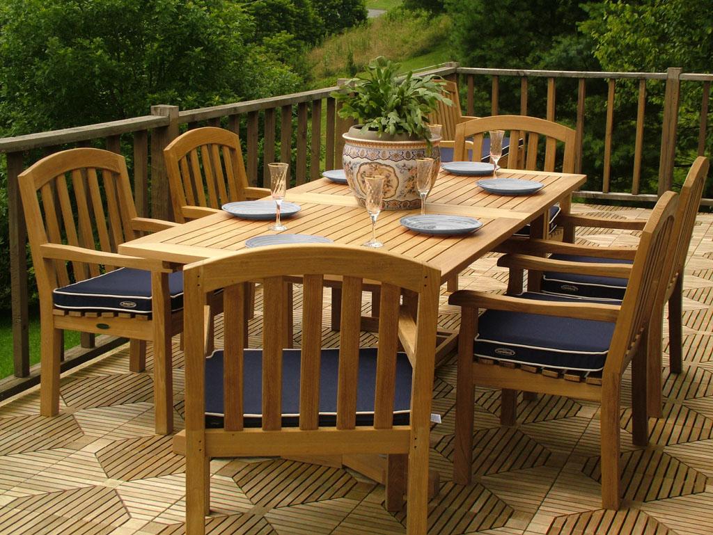 teak patio dining sets picture. Black Bedroom Furniture Sets. Home Design Ideas