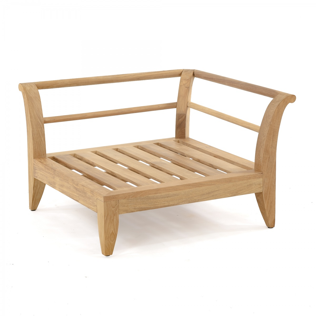 Modular teak furniture daybed with sunbrella westminster for Teak outdoor furniture