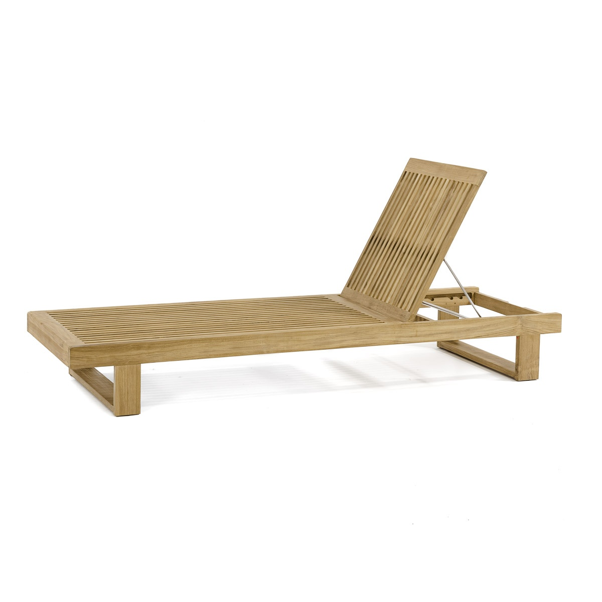 Horizon Teak Chaise Lounger For Pool And Patio
