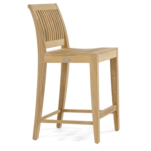 teak bar or counter stool