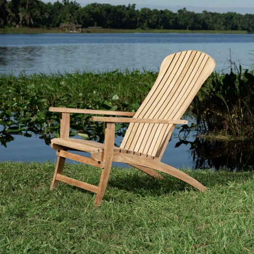 teak adirondack patio deck chair