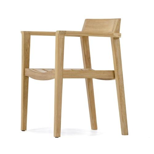 teak modern dining chair