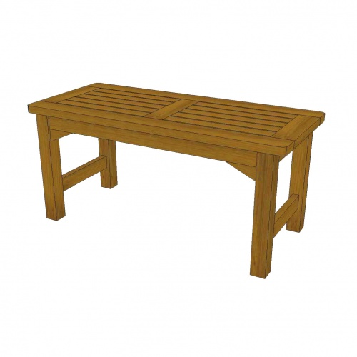 spa bench teak