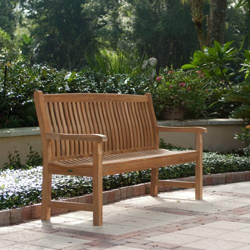 Miraculous 5 Ft Veranda Teak Bench Ibusinesslaw Wood Chair Design Ideas Ibusinesslaworg
