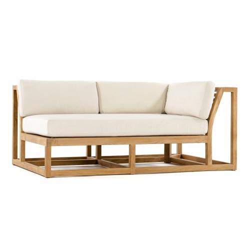 teak half sofas