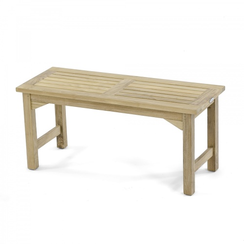 42 inch Barony Teak Backless Bench