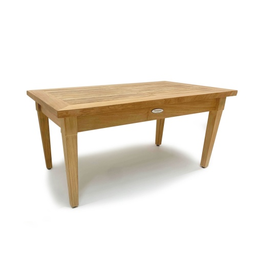 teak wood rectangular coffee table
