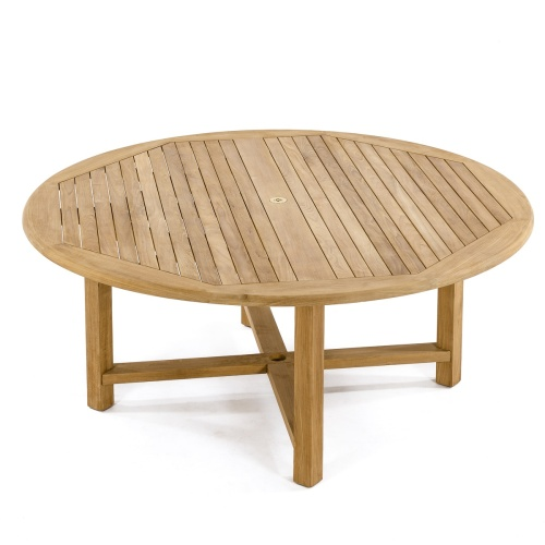 Merveilleux Large Round Teak Dining Table ...