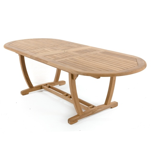 Teak Extension Outdoor Table; Oval ...