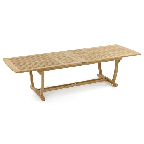 teak rectangular extension dining table