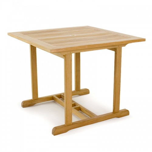 36 inch square teak tables