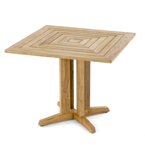 plantation grown solid teak outdoor square bistro table