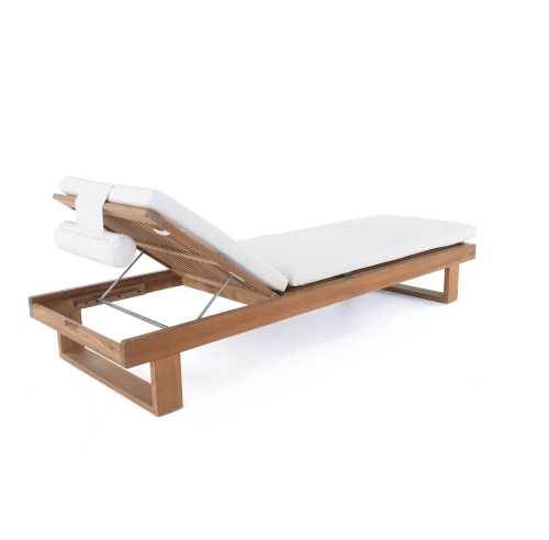 horizon teak chaise lounge