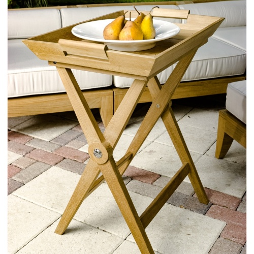 Folding Teak Wood Tray Table