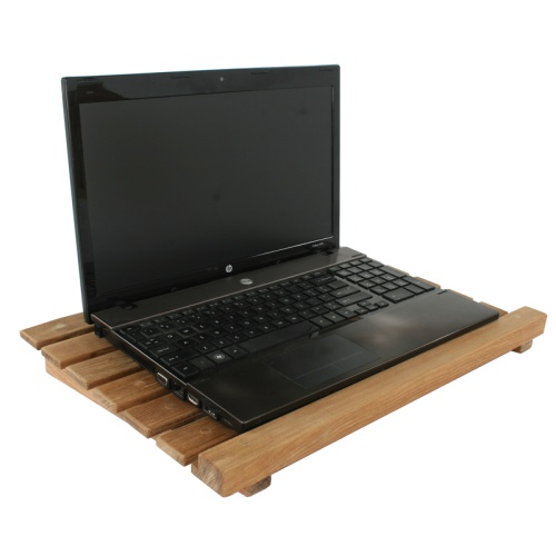 teak laptop stands