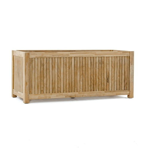 Solid Teak Wood 48 Rectangular Planter