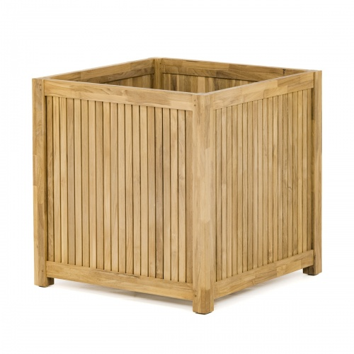 Large Square Wooden Planter Box