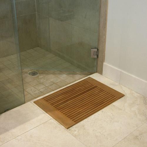 teak bath mats