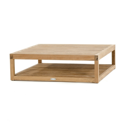 Teak Ottoman Coffee Table: Maya Teak Coffee Table