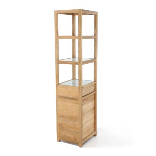 teak storage units