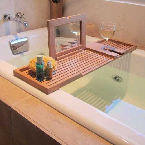 teak bathtub tray vanity - Bathroom Tray