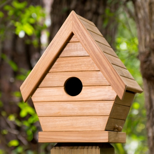 Teak Outdoor Birdhouse