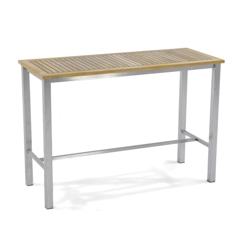 teakwood stainless stel high bar console