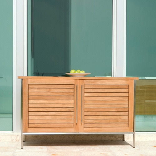 outdoor teak buffet