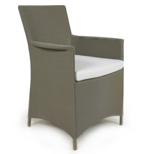 outdoor textilene and metal dining chair