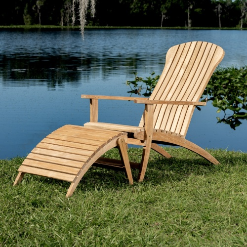Westminster Teak Adirondack Chair Set ...