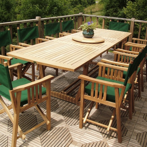 11pc teak wood dining set