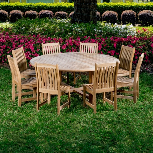 9 Piece Wooden Patio Dining Set
