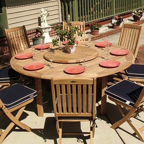 Barbuda 6 ft Round Table Set