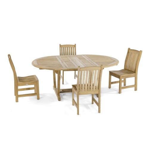 teakwood oval dining set