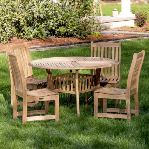 elegant 4 ft table and side chairs
