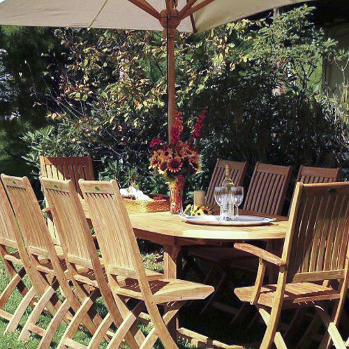 11pc dining table and folding chair set