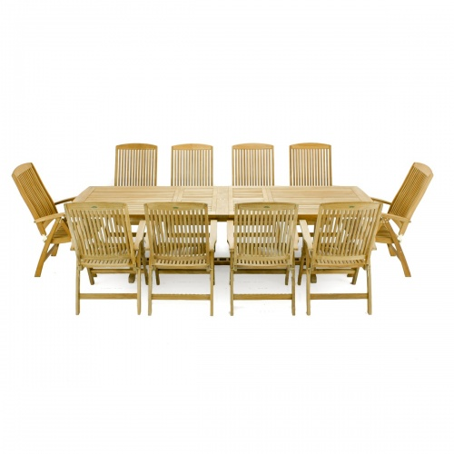 11pc table and reclining chair dining set