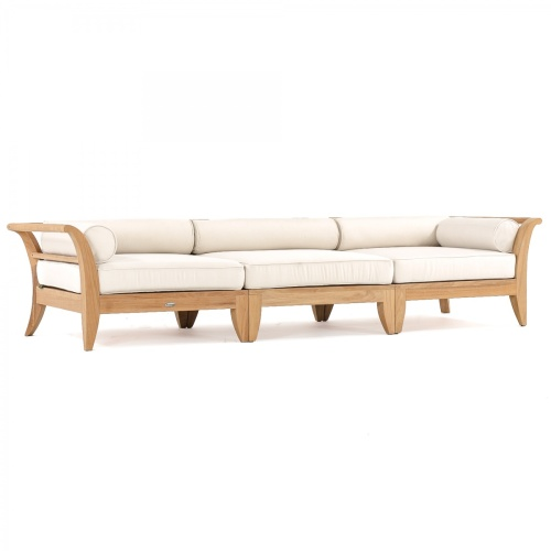 teak outdoor deep seating daybed