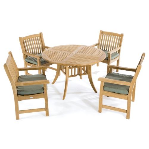 modern teak hyatt dining set